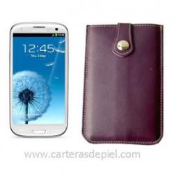 Funda de Móvil en Piel Samsung Galaxy SIII
