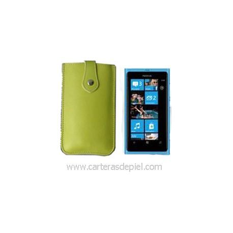 Funda de Móvil en Piel Nokia Lumia 800
